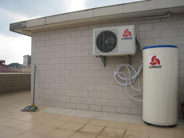 志高空气能热水器图片-独石小区家装实例