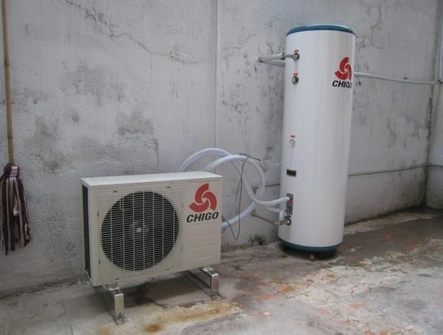 麦仔园小区家装实例-志高空气能热水器 户式中央空调