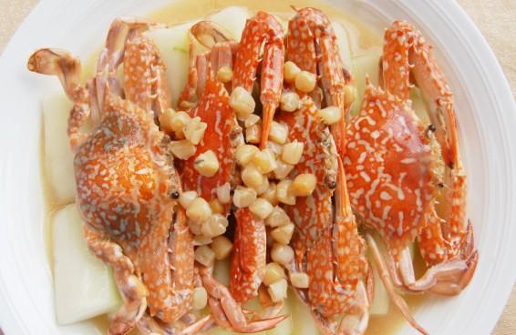 冬瓜瑶柱煮花蟹