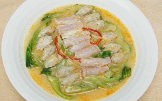 腐乳汁竹肠鱼滑浸生菜