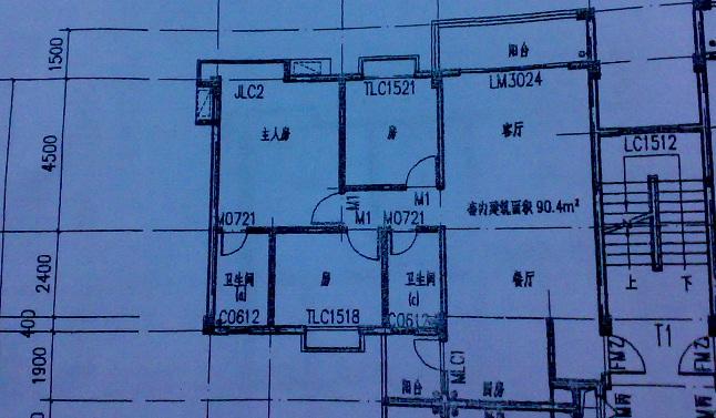 8x9米三房一厅设计图
