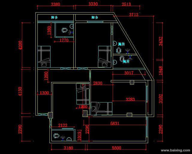 20平单间公寓设计图展示