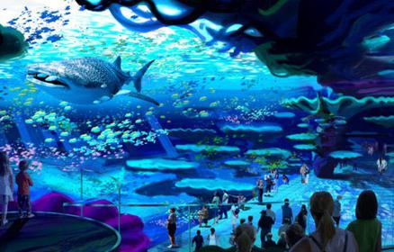 家游玩的缤纷世界;以海豚观赏为主的海豚湾;以冰雪设计为主的极地探险