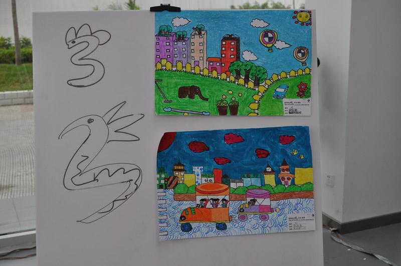 畅想未来的手抄报一等奖作品-童心描绘的未来家园 BMW南区爱心绘画
