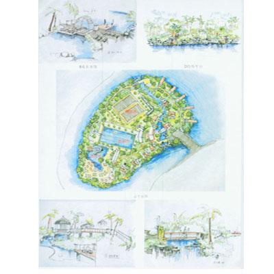 黄蜂岗公园湖心岛规划设计方案