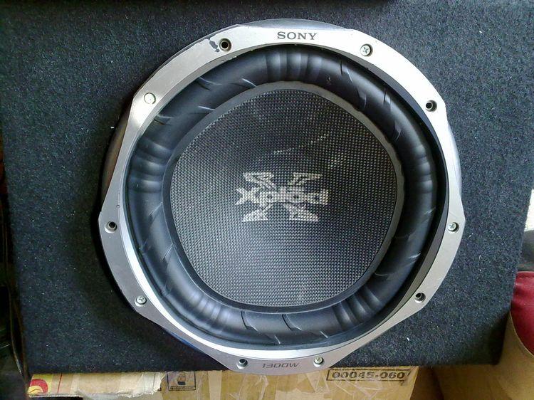 原装二手日本进口索尼sony12寸 编织盆 汽车低音炮喇叭高清图片