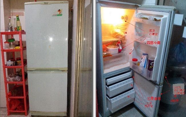 海尔160升小统帅冰箱转让