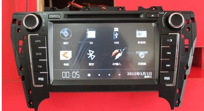 肇庆百川汽车影音—12款丰田凯美瑞专用dvd导航一体机