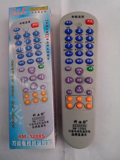 电视遥控器按键内侧涂有一层导电橡胶,对应着线路板上的按键触点电路.