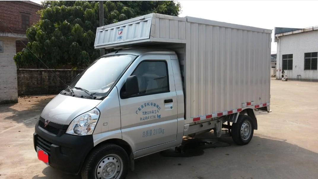 三個月的五菱箱式單排小貨車高清圖片
